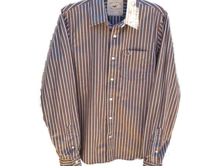 Medium Hollister California Long Sleeve Button-Up