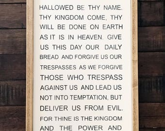The Lords Prayer Framed.