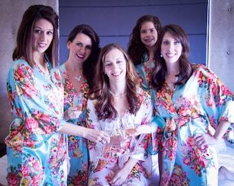 Bridesmaid Robes Floral Robe Wedding Robes Bridal Party Robes Bridesmaid Robe Bride Robe Floral Bride