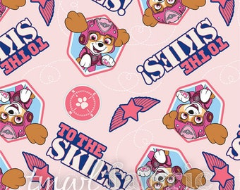 Woven Fabric - Pink Paw Patrol Pup to the Skies - Fat Quarter Yard +