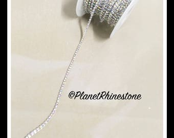 5-yard Simple Single line SS6 AB Rhinestone Trim Chain #S01