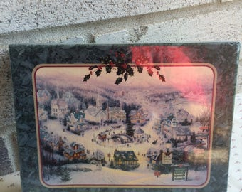 Vintage 1997 Thomas Kinkade Christmas notecards, St. Nicholas Circle Christmas Notecards, Christmas cards