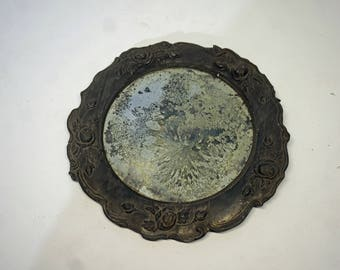 EARLY Antique Beveled Mirror 1700's 1800's ? Distressed, Revolutionary, Victorian, Civil War Era, Worn, Character, Rare