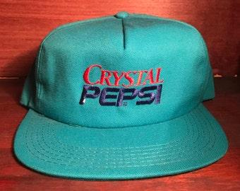 Crystal Pepsi Snapback Hat Light Blue