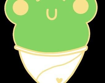 Frog Snow Cone Hard Enamel Pin **PREORDER