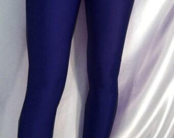 High waisted spandex leggings navy blue