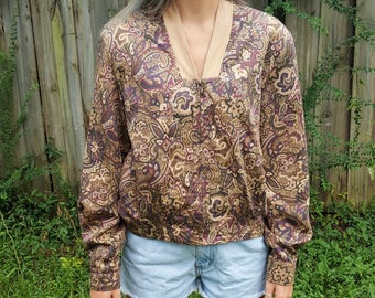 Vintage Floral WindbreakerHaley 1980s 1990s Coat Track Jacket Sweat Suit Bomber Mom Jacket Athletic Wear 100% Cotton