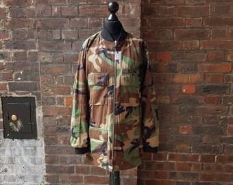 Retro Reworked Army Jacket | Camouflage Bomber Jacket