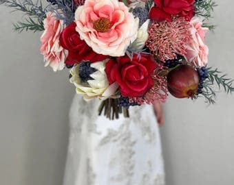 Bohemian Bridal Bouquet - Faux Flowers