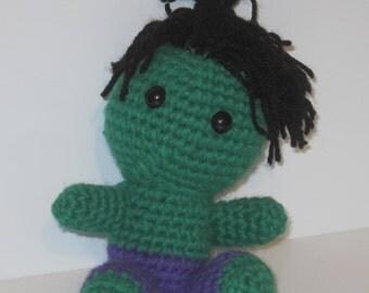 INCREDIBLE HULK - Handmade Crochet Amigurumi Doll - Marvel