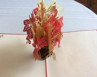 FLOWER BASKET Pop Up Card