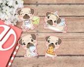 Die Cut Stickers: Petunia the Pug