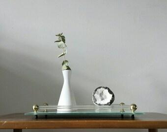 perfume tray lucite tray rectangular tray art deco tray vanity tray