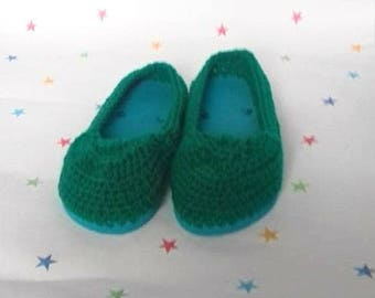 Crochet Shoes, Outdoor Sandals, Slip On Shoes, Adult Shoes, Crochet Loafers, Flat Shoes, Ladies Shoes, Gift for Her, Rubber Sole Shoes