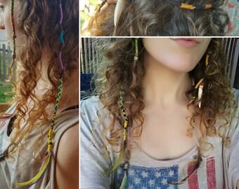 Custom Handmade Hemp Hair Wrap Extension