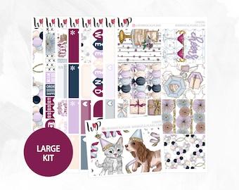 Cheers Large Kit - Matte Glossy Erin Condren Planner Stickers