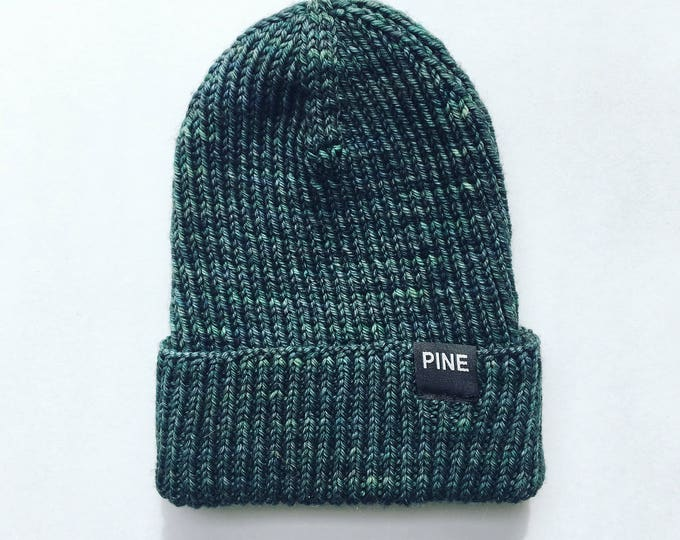 Emerald Green Cozy-Knit Beanie // READY TO SHIP