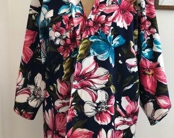 Navy and pink kimono, Kimono Cardigan, Summer kimono, Kimono jacket, Navy kimono, Long kimono, short kimono, Floral kimono, floral cardigan