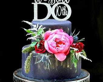We Still Do 10th Wedding Anniversary Vow Renewal Cake Topper made With Silver Crystal Rhinestones