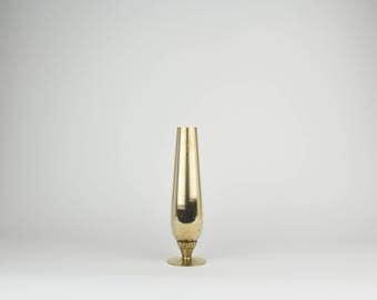 Brass  Tulip Bud Vase - Decorative - Minimalist - Flower Vases - Brass Accent - Hollywood Regency