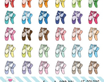45 Doodle Ballet Shoes Clipart, Doodle slippers clipart. Personal and comercial use.