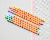 Pastel Stabilo Pens, Stabilo Pastel fineliners, pastel pens, colored pens, Stabilo pens