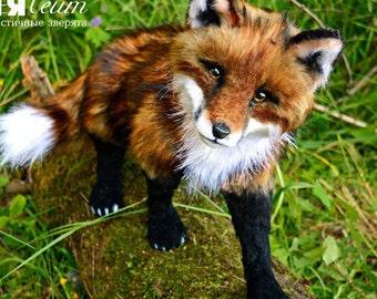 SOLD Fox Sonia - handmade stuffed realistic animal