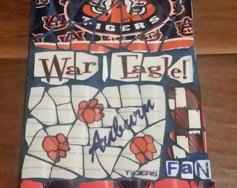 "Auburn ""Fan"" - Mosaic from recycled materials"