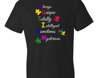 Autism Shirt - Autism Awareness Shirt - Autism Mom - Autism Dad - Puzzle Piece - Special Education Teacher Shirt - Aspergers Shirt - ASD
