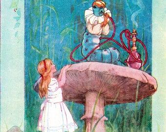 Alice In Wonderland Vintage Image Margaret Tarrant's Alice Antique Illustration. Alice in Wonderland Digital Download.