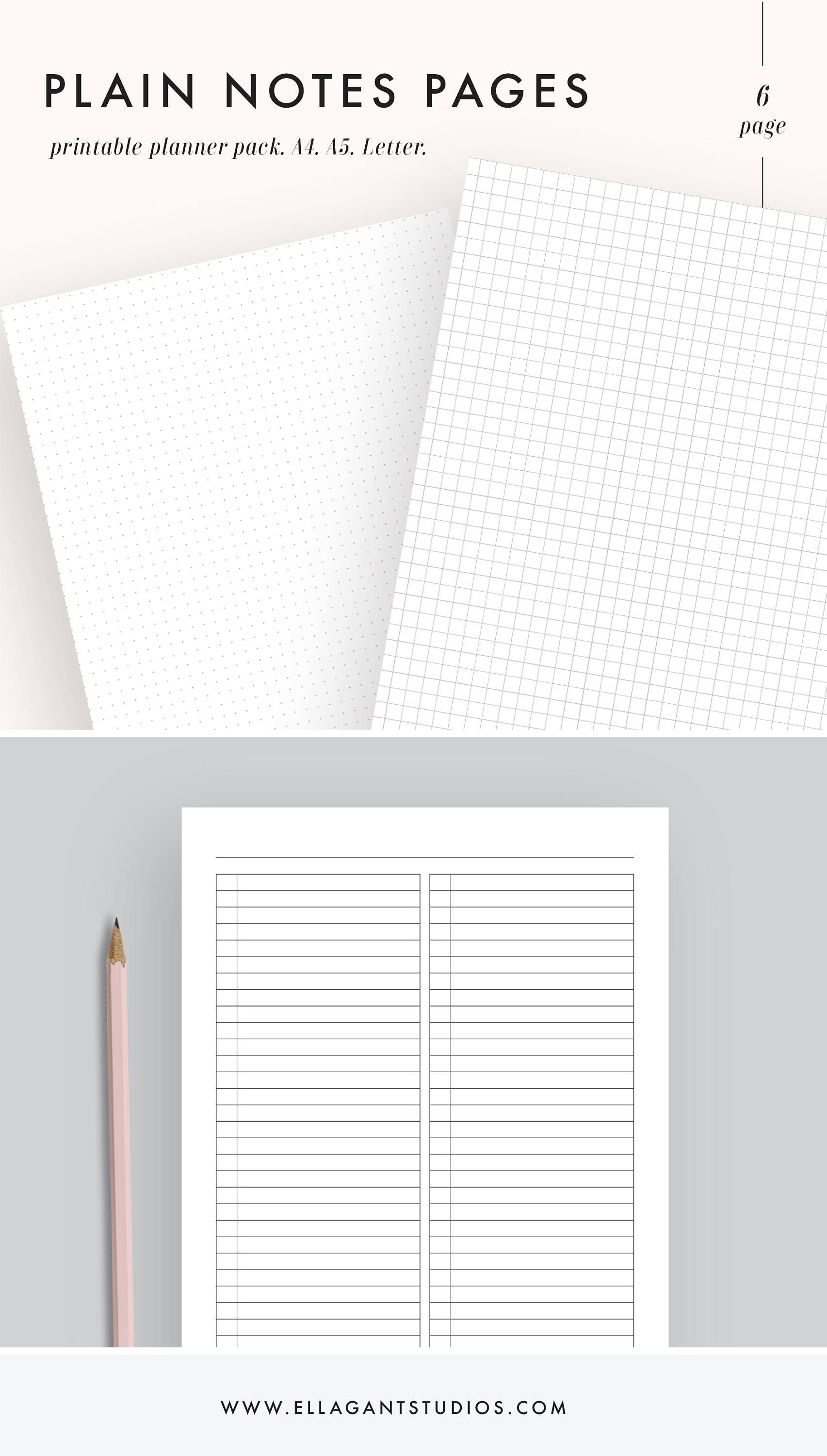 note paper printable note paper note pages bullet journal