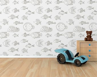 Latest Simple Fish Adhesive Wallpaper Removable Wall Sticker Mural With Make My Own For Walls