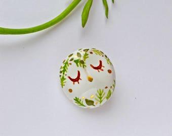 Forest Owl Brooch, Ceramic Owl Jewelry, Miniature Ceramic Animal, Bird Jewelry, Tiny Ceramic Bird, Miniature Animal, Tiny Art