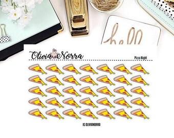 Pizza Night Stickers