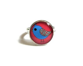 BIRD RING - bird Jewelry - bird Accessories - Animal Ring - Animal jewelry - Kids Ring - Kids Jewelry - Children jewelry