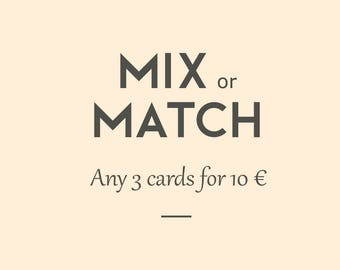 Envelopes and greeting cards. Mix + Match 3