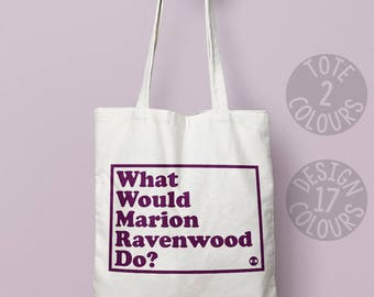 Marion Ravenwood, Indiana Jones, canvas tote bag, reusable bag, retro gift for woman, 90's sci-fi film Harrison Ford Raiders of the lost ark