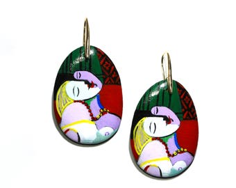 Hand-Painted Pablo Picasso earrings