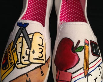 Teacher Appreciation Painted Shoes