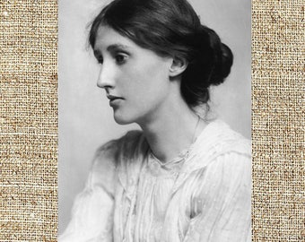 Virginia Woolf photograph, Virginia Woolf black and white photo print, Virginia Woolf vintage photograph