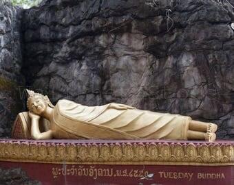 Tuesday Buddha, Luang Prabang, Laos, Buddha Photography, Buddha Statue, Buddhism, Travel Photography, Fine Art Photography, Buddha Wall Art