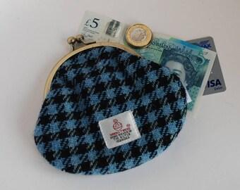 Harris Tweed Clasp Purse / Harris Tweed Coin Purse / Change Purse / Wool Purse / Small Purse