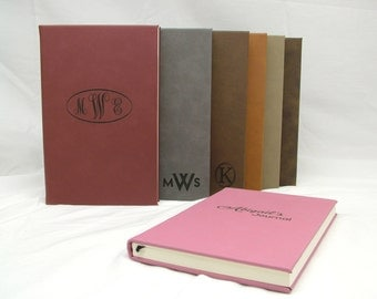 Personalized Leatherette Journal - Custom Logo
