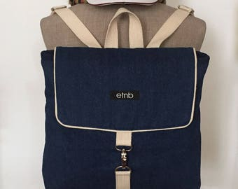 Jeans bag, Jeans backpack, Denim backpack, Denim bags, Backpack vintage, Backpack denim, Backpack jeans, Minimal backpack, Cute bags - Jenny