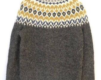 Grey Wool Lopapeysa