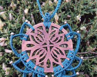 Lotus Flower woven wood mano.mandala natural.verde agua.piezas doradas.boho and elegante.ideal regalo.fiesta.etnico.pieza only.