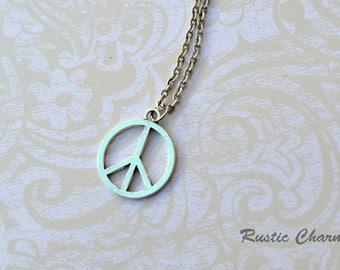 Peace Sign Pendant Pendant Necklace