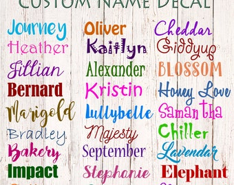 Custom Decal, Name Decal, Name Sticker, Custom Name Decal, Yeti Decal, Car Decal, Custom Sticker, Waterproof Name Label