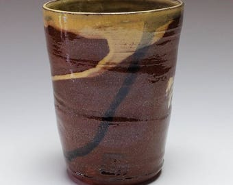 NOW SOLD....Pottery beakers, ceramic beakers, ceramic cups, cream cups, small vase, ceramic tumblers