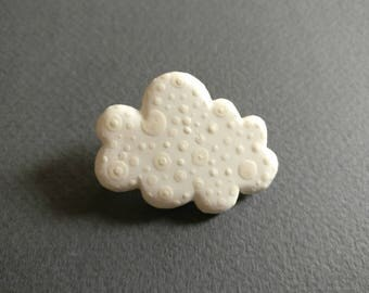 Cloud. Brooch.